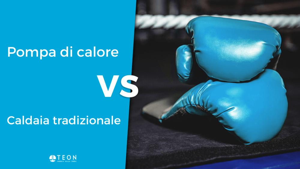 guantoni da boxe per il confronto tra pompa di calore e caldaia tradizionale